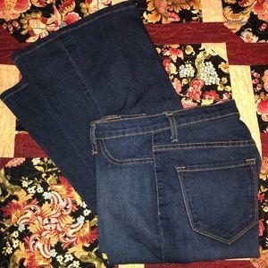 Bellbottom flare jeans